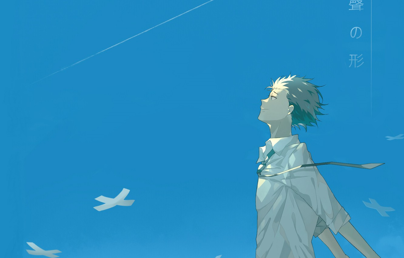 Photo wallpaper the sky, the wind, guy