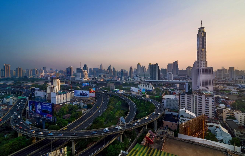 Photo wallpaper the city, morning, Thailand, Bangkok