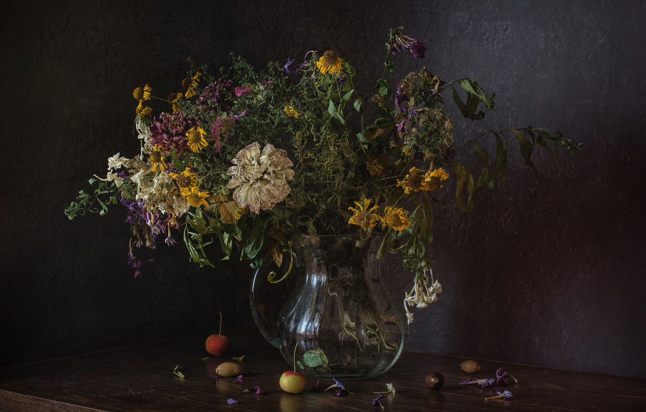 Wallpaper Flowers Bouquet Still Life Faded Images For