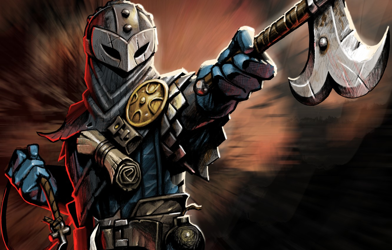 Photo wallpaper bounty hunter, Darkest Dungeon, A Red Hook Studios