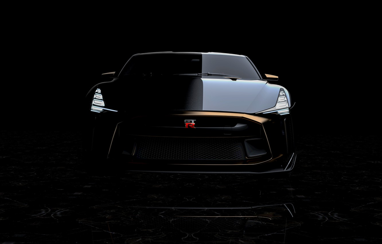 Photo wallpaper Nissan, front view, 2018, ItalDesign, GT-R50 Concept