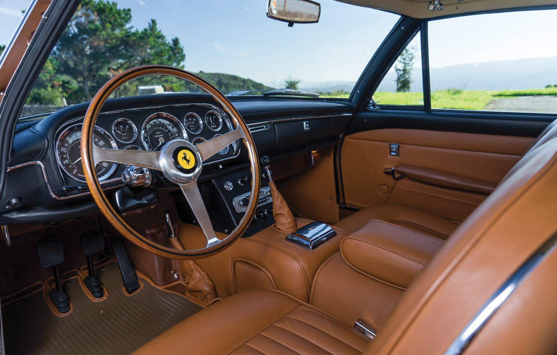 Photo wallpaper Salon, Ferrari, Classic, The wheel, Classic car, Ferrari 400 Superamerica, The Short Wheelbase Coupe Aerodynamic, …