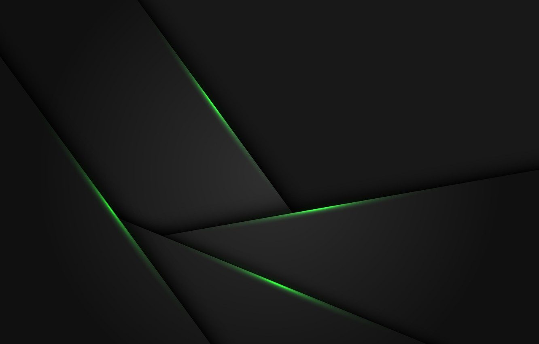 Photo wallpaper light, line, green, grey, background