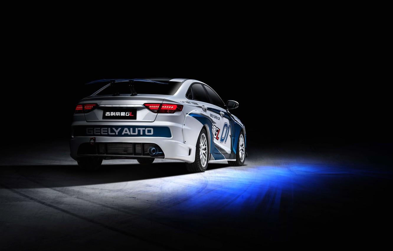 Photo wallpaper racing car, spoiler, rear view, 2018, Race Car, Geely, Emgrand GL