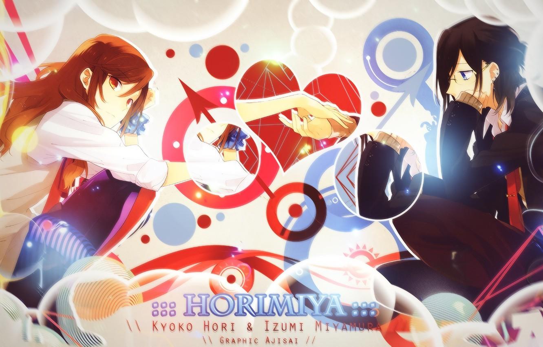 Photo wallpaper romance, anime, art, pair, Horimiya
