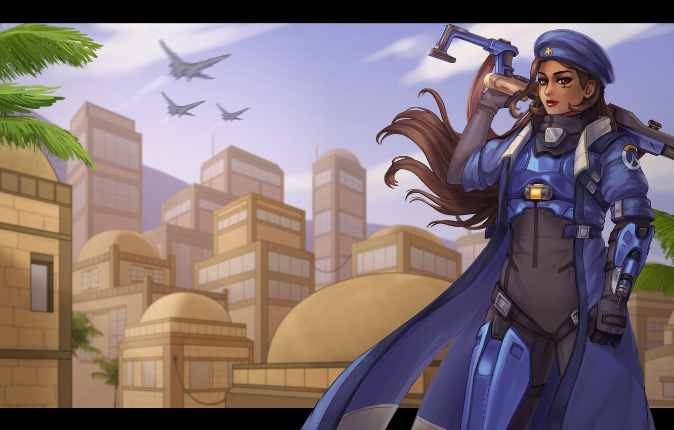 Wallpaper Girl Form Art Ana Overwatch Main Amari Images For