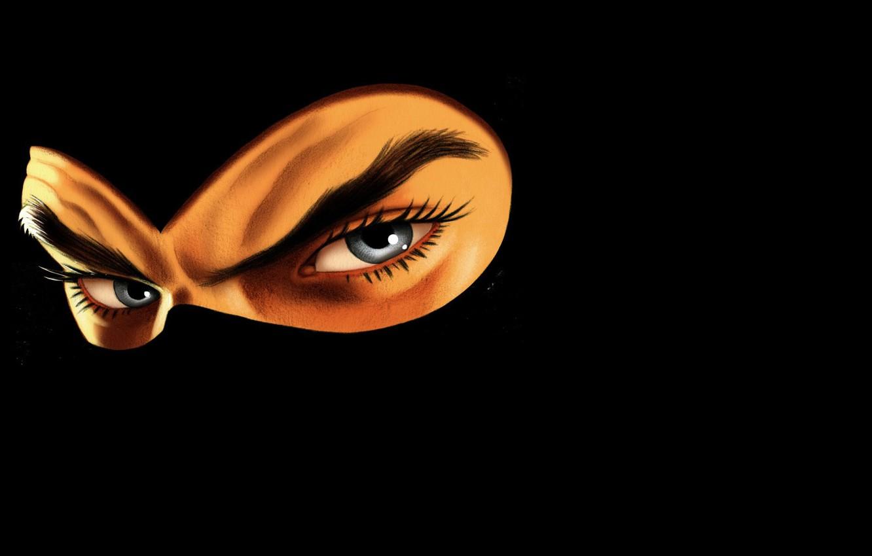 Photo wallpaper mask, darkness, eays, Diabolik