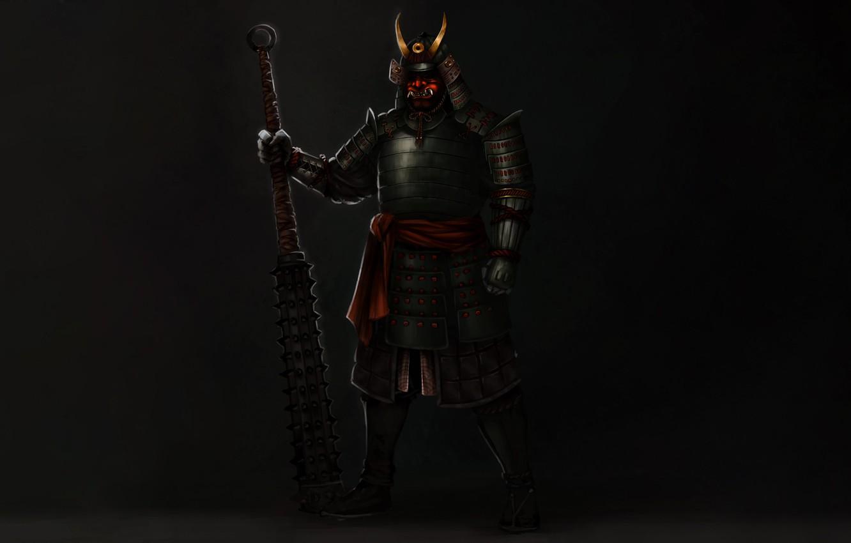 Photo wallpaper Japan, Samurai, Concept Art, Armor, Sketch, Alejandro Castillejo, Japanese Warrior