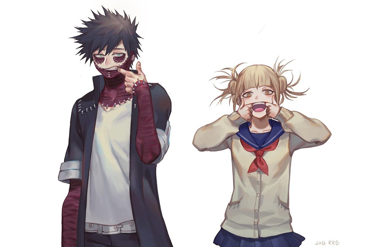 Photo wallpaper anime, art, White background, heroes, Boku no Hero Academy, My hero Academy