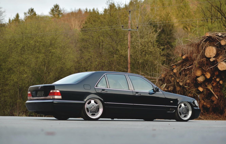 Photo wallpaper Mercedes - Benz, S-Class, W140, S500, LONG