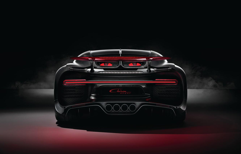 Photo wallpaper Bugatti, rear view, 2018, Sport, the rear part, Chiron
