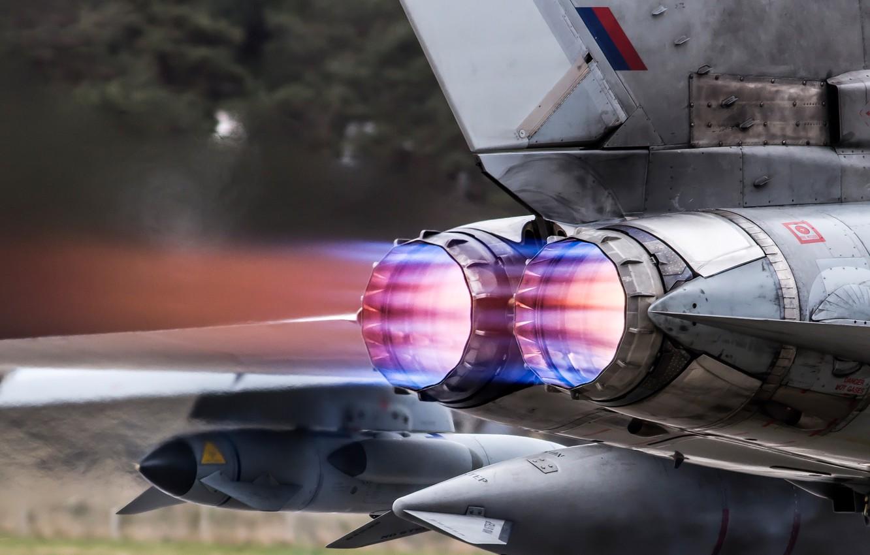 Photo wallpaper heat, the plane, nozzle