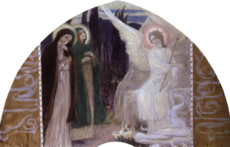 Photo wallpaper 1899-1900, Nesterov, Mikhail Vasilyevich, The Resurrection Of Christ, at the Holy sepulchre, Myrrh-bearing women