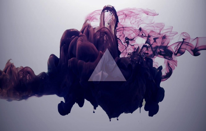 Photo wallpaper smoke, triangle, clubs