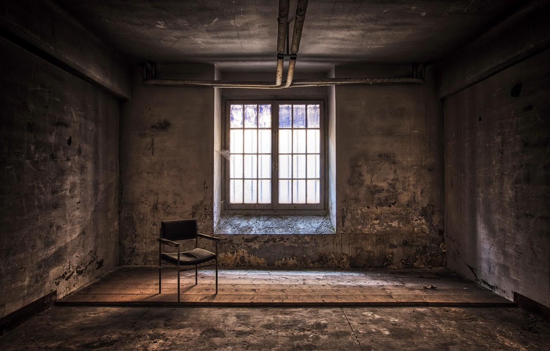 Photo wallpaper room, window, chair