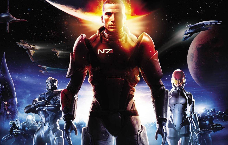 Photo wallpaper fiction, game, John Shepard, John Shepard, BioWare, Mass Effect, fantastic, The reapers, Garrus Vakarian, Ashley …