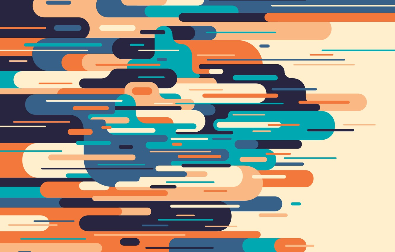 Photo wallpaper line, abstraction, vector, art, background