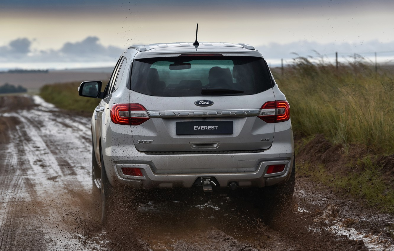 Photo wallpaper Ford, rear view, Everest, 4WD, XLT, 2019