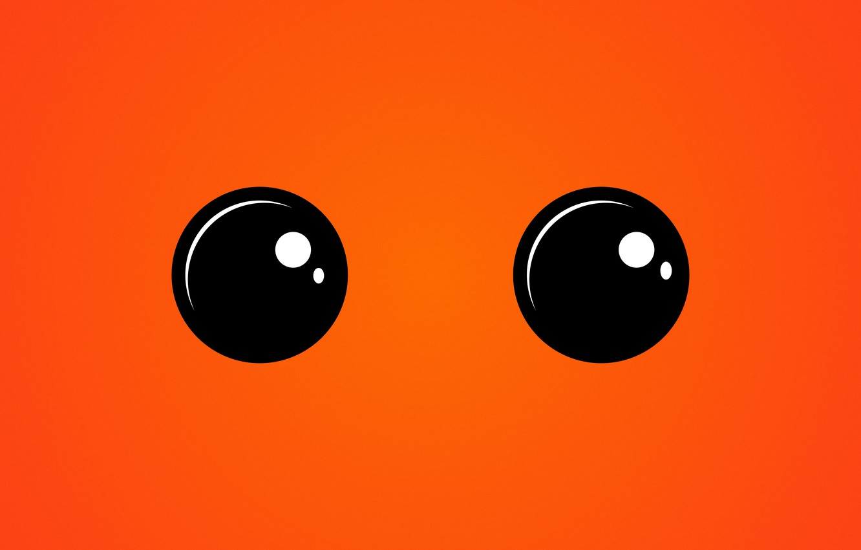 Photo wallpaper eyes, look, orange, texture