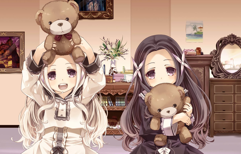 Photo wallpaper girls, anime, cuties