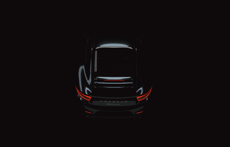 Photo wallpaper Auto, 911, Porsche, Machine, Car, Art, Render, Design, Black, Supercar, Supercar, Minimalism, Sports car, Sportcar, …
