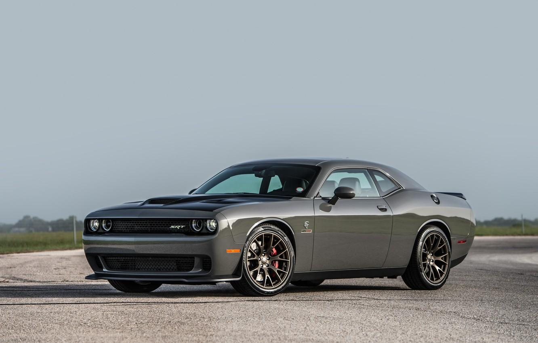 Photo wallpaper Dodge Challenger, Muscle car, Hellcat, SRT, Vehicle