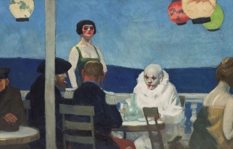 Photo wallpaper 1914, Edward Hopper, Evening Blue