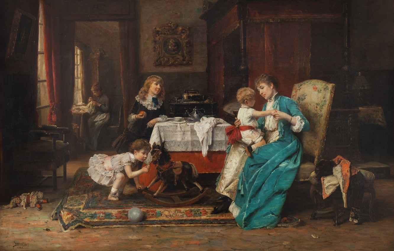 Photo wallpaper 1886, Czech painter, Czech painter, National Gallery in Prague, National gallery in Prague, oil on …