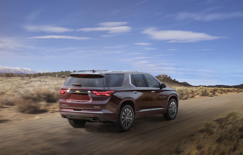 Photo wallpaper speed, Chevrolet, SUV, Traverse, 2021, First