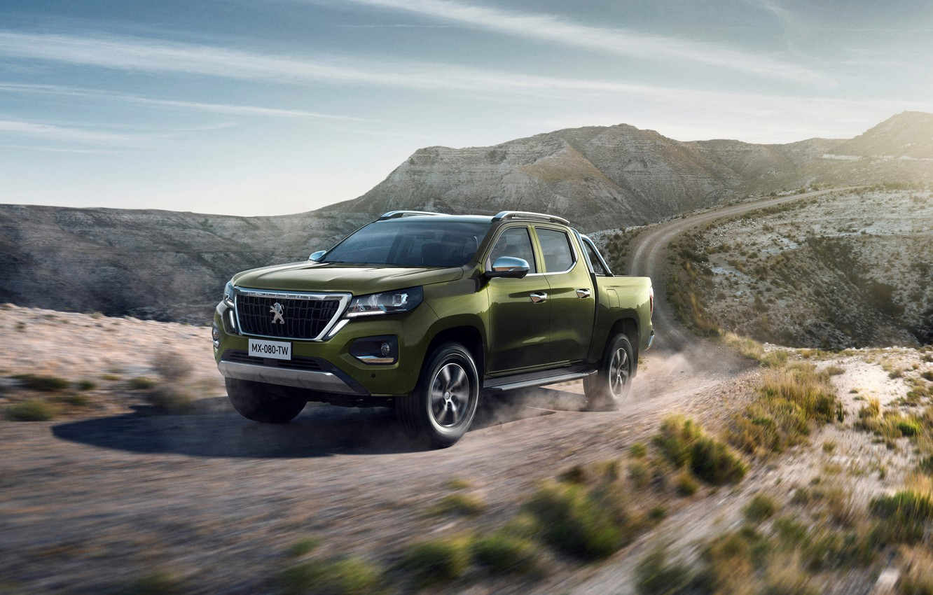 Photo wallpaper Peugeot, in motion, pickup, 2020, Country trek, Changan Kaicene F70