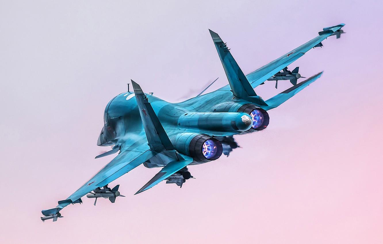 Photo wallpaper flight, fighter-bomber, Su-34, Su-34