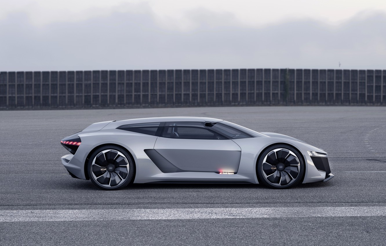 Photo wallpaper road, grey, Audi, profile, 2018, PB18 e-tron Concept
