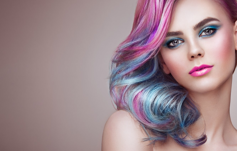 Photo wallpaper girl, smile, style, model, makeup, girl, color, photographer Oleg Gekman