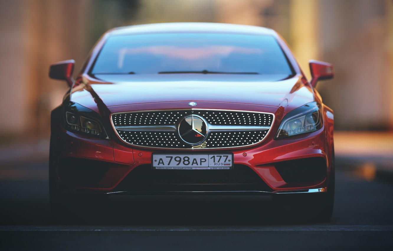 Photo wallpaper Mercedes-Benz, Red, Auto, Machine, Mercedes, Red, Car, Render, Rendering, Rendering, The front, Transport & Vehicles, …