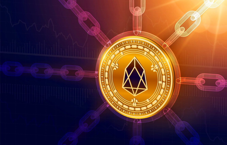 Photo wallpaper eos, clarification, chain, cryptocurrency, blockchain, EOS