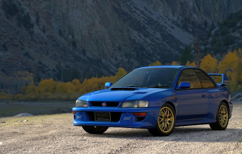 Photo wallpaper Autumn, Subaru, Car, Gran Turismo Sport, Impreza 22B-STi Version '98