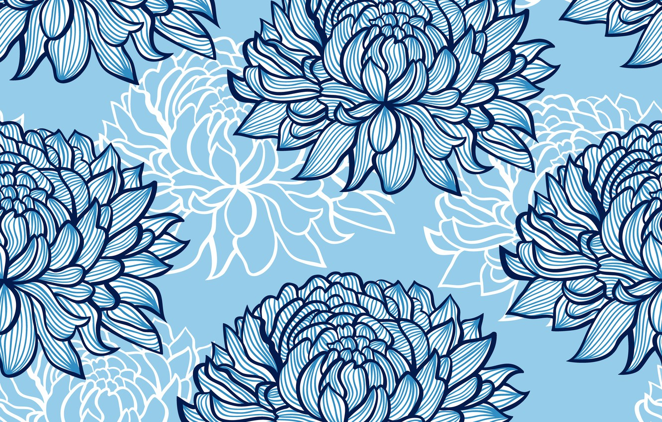 Photo wallpaper blue, background, Flower, Texture, Abstract