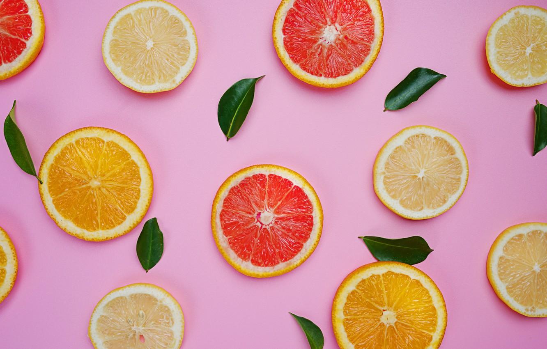 Photo wallpaper lemon, orange, lemon, fruit, slices, grapefruit, fruit, orange, citrus, grapefruit, slice