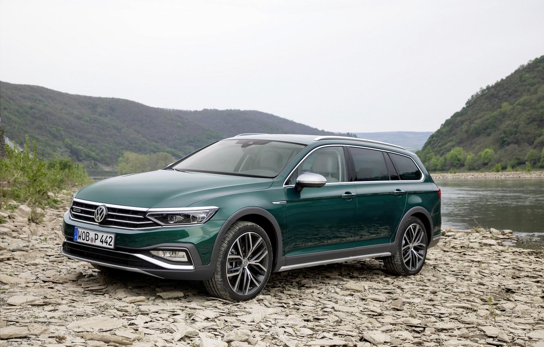 Photo wallpaper shore, Volkswagen, universal, Passat, dark green, Alltrack, 2019
