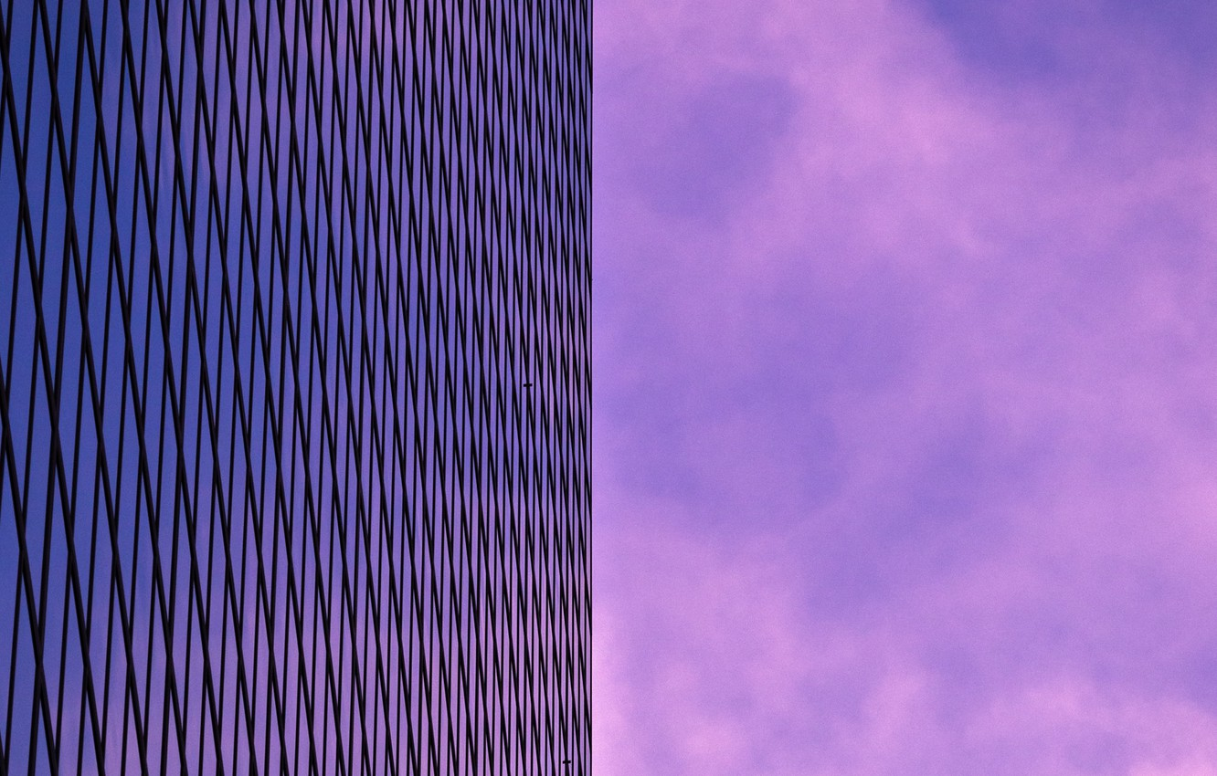 Photo wallpaper the sky, the building, minimalism