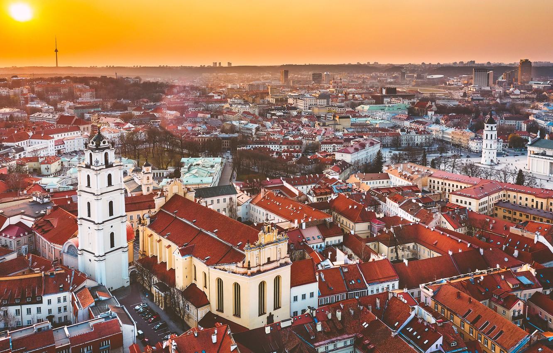 Wallpaper The City Lithuania Vilnius Images For Desktop Section Gorod Download