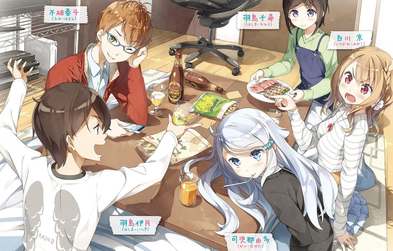 Photo wallpaper table, friends, characters, Imouto sae Ireba Ii