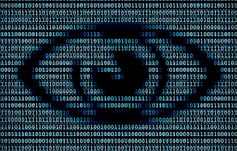 Photo wallpaper binary, one, eye, code, zero