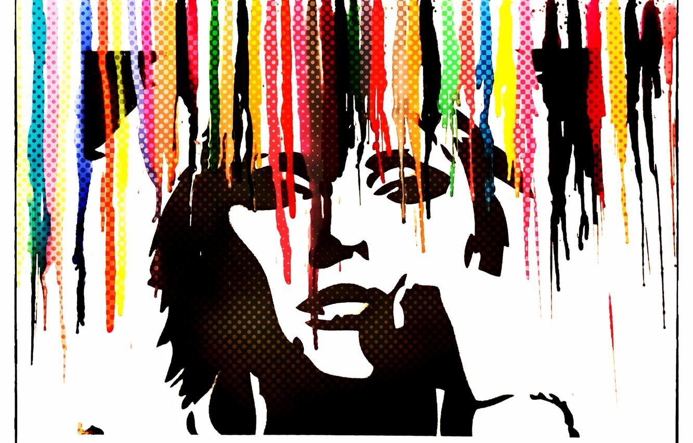 Photo wallpaper color, face, wall, figure, Paint