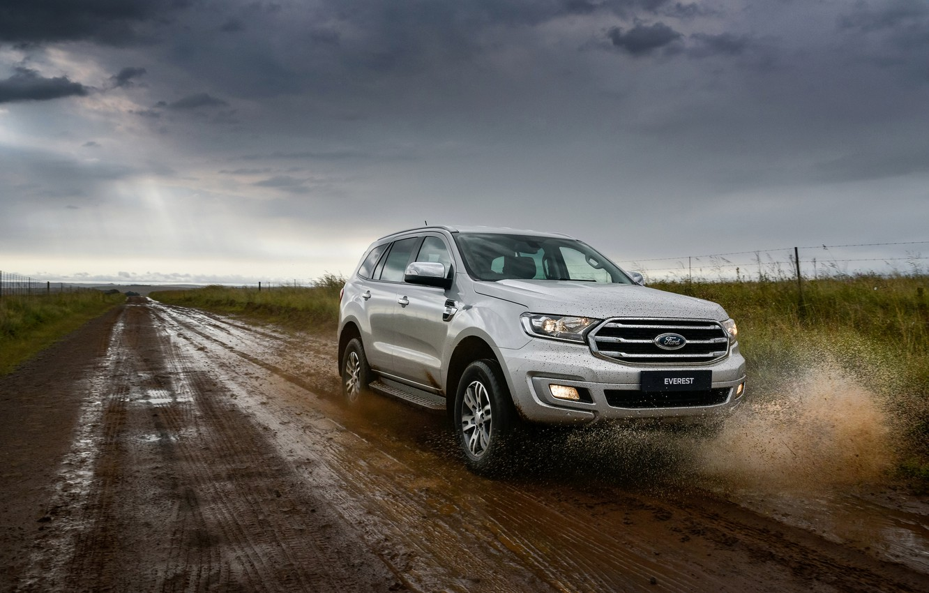 Photo wallpaper squirt, Ford, primer, Everest, 4WD, XLT, 2019