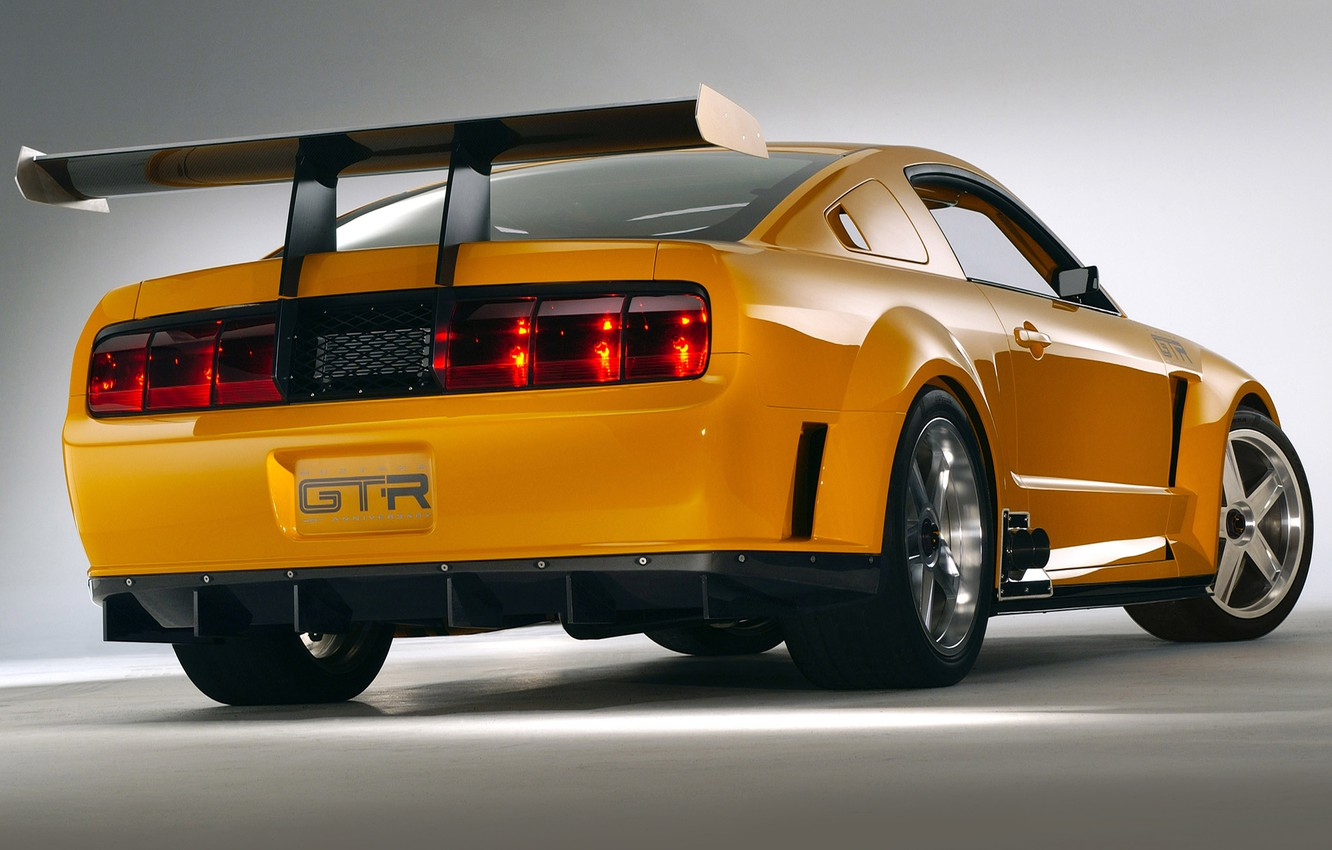 Photo wallpaper Concept, Mustang, Ford, GT-R, rear view, 2004
