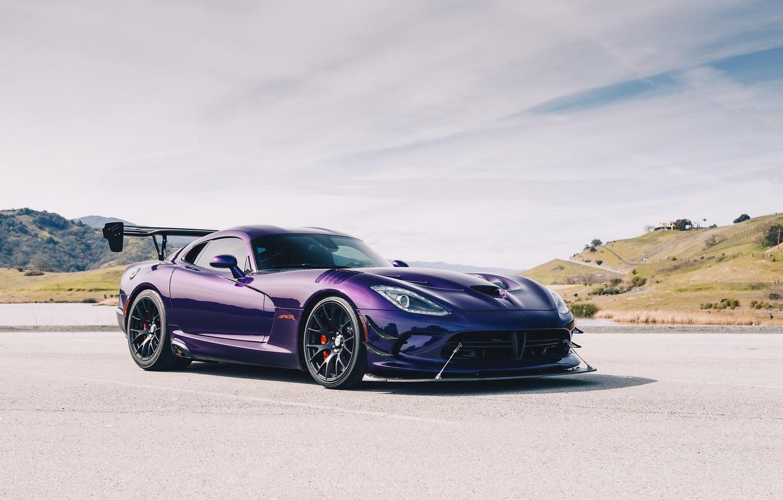 Photo wallpaper purple, sports car, Dodge Viper, Dodge Viper ACR, Viper ACR