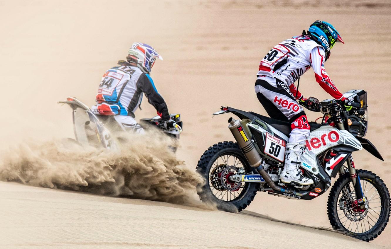 Photo wallpaper Sand, Dust, Sport, Desert, Race, Motorcycle, Rally, Dakar, Dakar, Rally