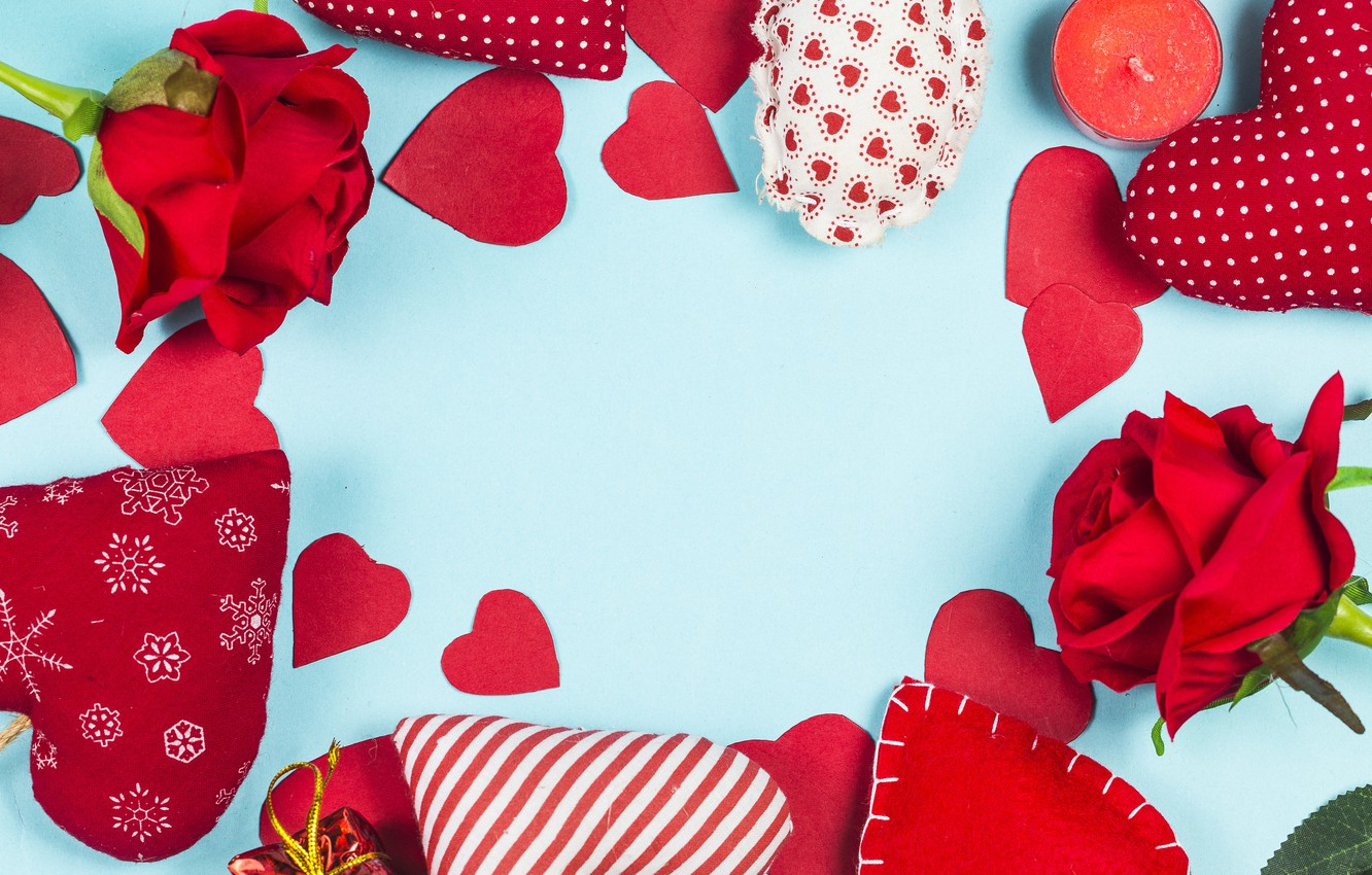 Photo wallpaper love, flowers, heart, roses, hearts, red, love, romantic, hearts, valentine's day, roses