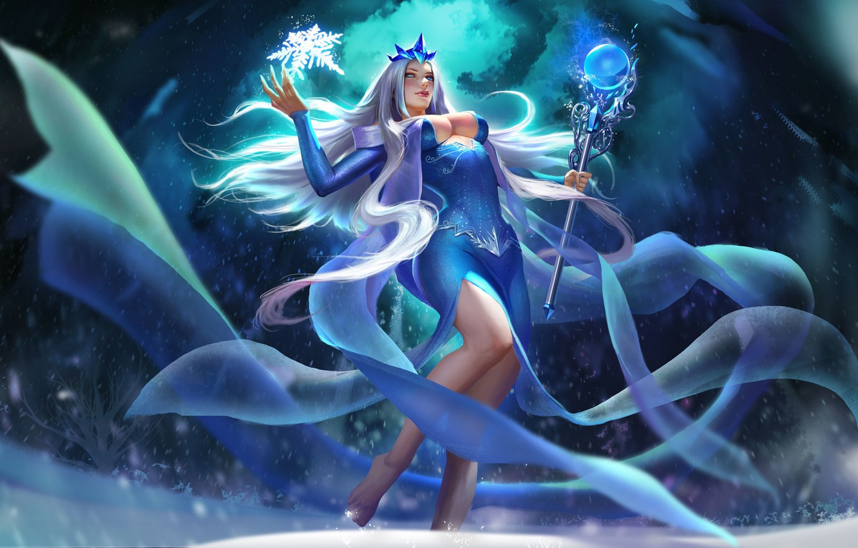 Photo wallpaper tale, art, the snow Queen, li fengyang, bingxue